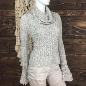 Free People | Marl Knit Ribbed Cropped Sweater